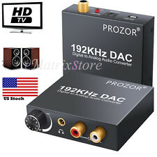 Digital 192kHz Optical Coaxial Toslink to Analog RCA L/R 3.5mm Audio Converter