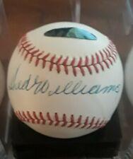 Ted Williams AutographSweet Spot Baseball - Dual AuthenticationPSA Ted William