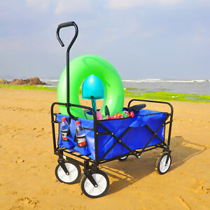 Sports Heavy Duty Collapsible Folding All Terrain Utility Wagon Cart for Camping