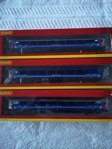 Hornby oo gauge  coaches first Great Western x3 new boxed