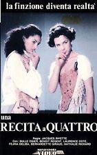 Una recita a Quattro (1989) VHS Mondadori  Bulle Ogier, Benoit Regent,  Rivette