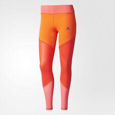 NWT Womens New Leggings Adidas XL Climalight Run Red Orange Pink Coral Pants WOW