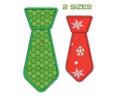 Applique Tie. Machine embroidery design for boy. Motif de broderie machine