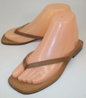 Colin Stuart Wos Sandals 1695 Flip Flop US 6.5 Brown Leather Slip-On Thong Italy