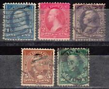 ETATS-UNIS USA - Emissions générales 1894 - N° 97 à 104 - 5 timbres oblitérés