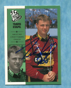 SIGNED 2002 Press Pass #59 Travis Kvapil - Autographed Card NASCAR Auto
