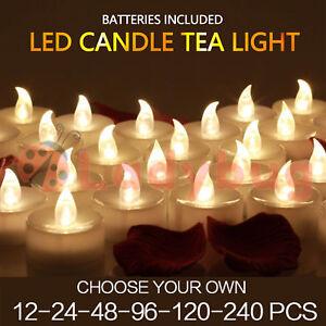 Led Tea Light Candles Tealight Flameless Wedding Battery Included Warm
