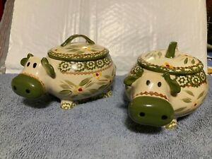 Temptations Mini Cow Bakers (2) Old World Green 16oz.