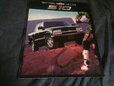 2001 Chevy Chevrolet S10 Pickups Original Brochure Prospekt