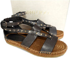 Jimmy Choo Denise Flat Studded Sandals Espadrilles Studded Pumps Shoe 36.5