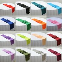 """12*108"""" Table Runner Satin Cloth Wedding Venue Party Decoration Catering Event"""