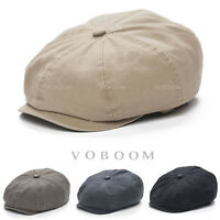 VOBOOM Vintage Men's Gatsby Cap 8 Panel Hat Newsboy Cap Golf Driving Flat Cabbie