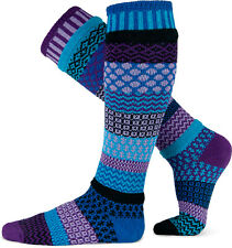 RASPBERRY LADIES LONG ODDSOCKS COTTON ODD SOCKS 100% RECYCLED FIBRES BY SOLMATE