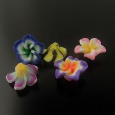 14mm Cute Polymer Clay Mixed Color Flower Beads Charms Jewelry Finding 50PCS