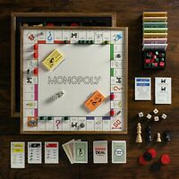 Winning Solutions Monopoly Deluxe Vintage 5-in-1 Edition Wooden Board Game New