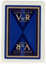 Playing Cards 1 Single Swap Card - Old Vintage Wide DUNVILLE'S VR WHISKY Advert