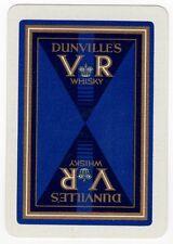 Playing Cards 1 Swap Card - Old Vintage Wide Linen DUNVILLE'S VR WHISKY Bottle