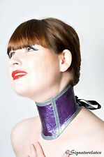 Latex boned posture collar with lace affect.