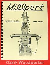 Millport 2S Mill Parts Operator's Manual 0467