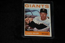 CHUCK HILLER 1964 TOPPS VINTAGE SIGNED AUTOGRAPHED CARD #313 GIANTS