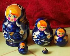 Handpainted Russian Nesting Doll 5 Pcs 3.4