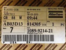 Atlas Copco Air Compressor Pressure Switch 1089-9214-21 NEW