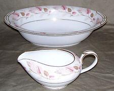 Noritake Rosanne Pattern 5610 / 1 Oval Vegetable Bowl & 1 Creamer / 1955 - 1960