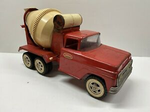 Vintage 1960's Tonka Toys Pressed Steel Red Cement Mixer AS-IS