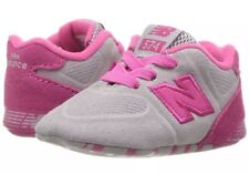 New Balance Girls' 574 Crib Sneaker Infant Size 2 Wide Pink/Grey KL574CPC NEW!
