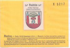 Reklamemarke Wappen von Stadtilm Thüringen um 1925 (B688)