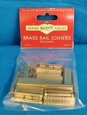 G Scale - BACHMANN 94657 Brass Rail Joiners - 24 Pieces