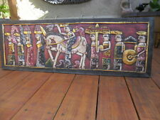 Balinese Hand Carved Wall Panel (bali ceremony design) Lge