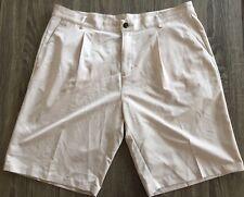 Men's Adidas Golf Shorts Khaki Beige Clima Lite Size 38
