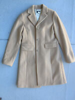 J Crew Thinsulate Lined Winter Peacoat size 4 Knee length, Wool/Cashmere, Camel