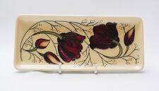 Moorcroft Chocolate Cosmos Design Tray - Made in England
