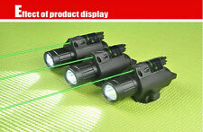 Tactical 2in1 Combo CREE Q5 LED Flashlight LIGHT 200LM Green Laser Sight Pistol