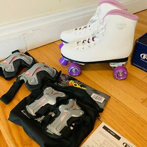 Roller Star 550 Roller Skates Size 10 with Knee Pads and Wrist Guards
