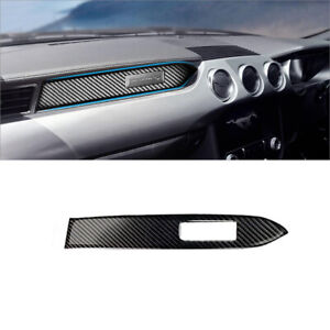 Carbon Fiber Copilot Dashboard Panel Cover Trim For Ford Mustang 2015-2019
