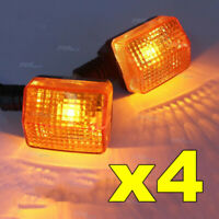 4x  MOTORCYCLE INDICATORS For HONDA YAMAHA SUZUKI KAWASAKI BLINKERS YELLOW LENS