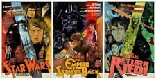 Sold Out Star Wars Original Trilogy Interpretive Movie Poster Art Set J.J. Lendl