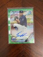 2019 Bowman Chrome Prospects TOMMY ROMERO Autograph Green Shimmer #22/99 Auto