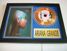 ARIANA GRANDE  SIGNED  GOLD CD  DISC  91