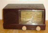 Vintage General Electric Model 414 Superheterodyne Bakelite Tube Radio Loud Hum