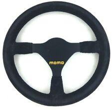 Genuine Momo Model Mod.21 black suede 300mm steering wheel. Race, rally etc.