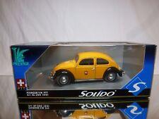 SOLIDO PRESTIGE 299 VW VOLKSWAGEN BEETLE SPLIT - PTT SCHWEIZ 1:18 - GOOD IN BOX