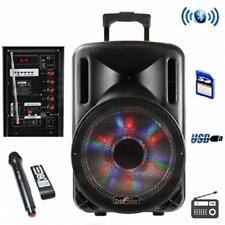 """beFree Sound 12""""*BLUETOOTH*Portable Rechargeable PARTY DJ PA SPEAKER*with LIGHTS"""