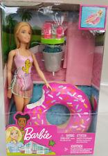 Barbie Spielset Poolparty GHT20 Modepuppe blond Donut Schwimmreifen Neuware