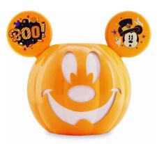 Disney Halloween 2020 Mickey Jack-O'Lantern Pumpkin Ears Candy Bucket Bowl GITD