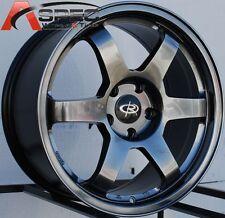 HYPER BLACK 17X8 +44 ROTA GRID 5X100 WHEEL FIT TC FR-S GT86 BRZ WRX NEON SRT 4