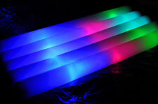 12 PCS LED Light Up Foam Rally Rave Batons DJ Party Flashing Glow Wands Sticks